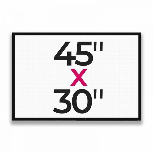 "45"" x 30"""