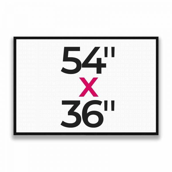"54"" x 36"""