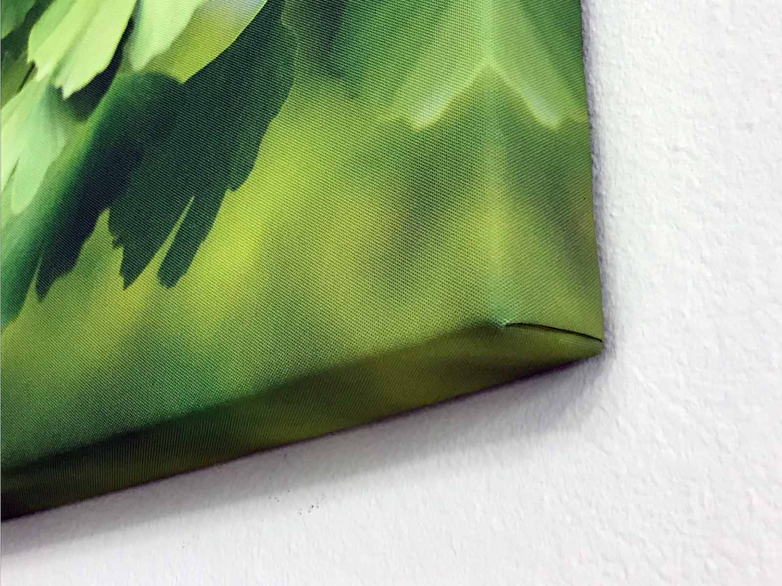 Closeup of Gallery Wrapped Edges