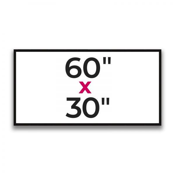 "60"" x 30"""